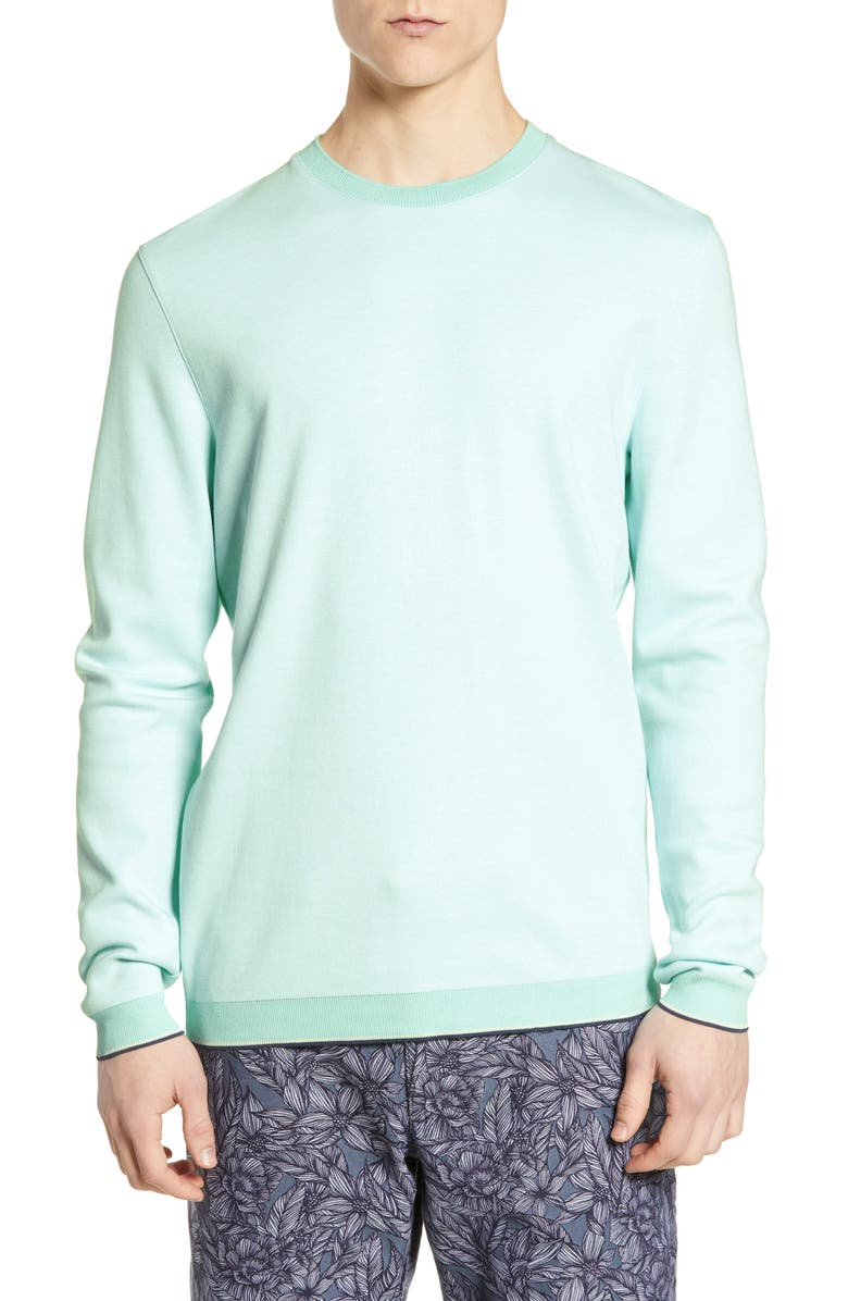 Ted Baker London Toyde Slim Fit Oxford Jersey Sweatshirt