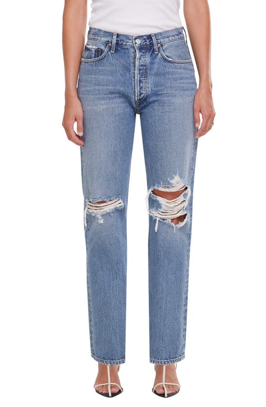 Agolde Clothing LANA RIPPED STRAIGHT LEG JEANS