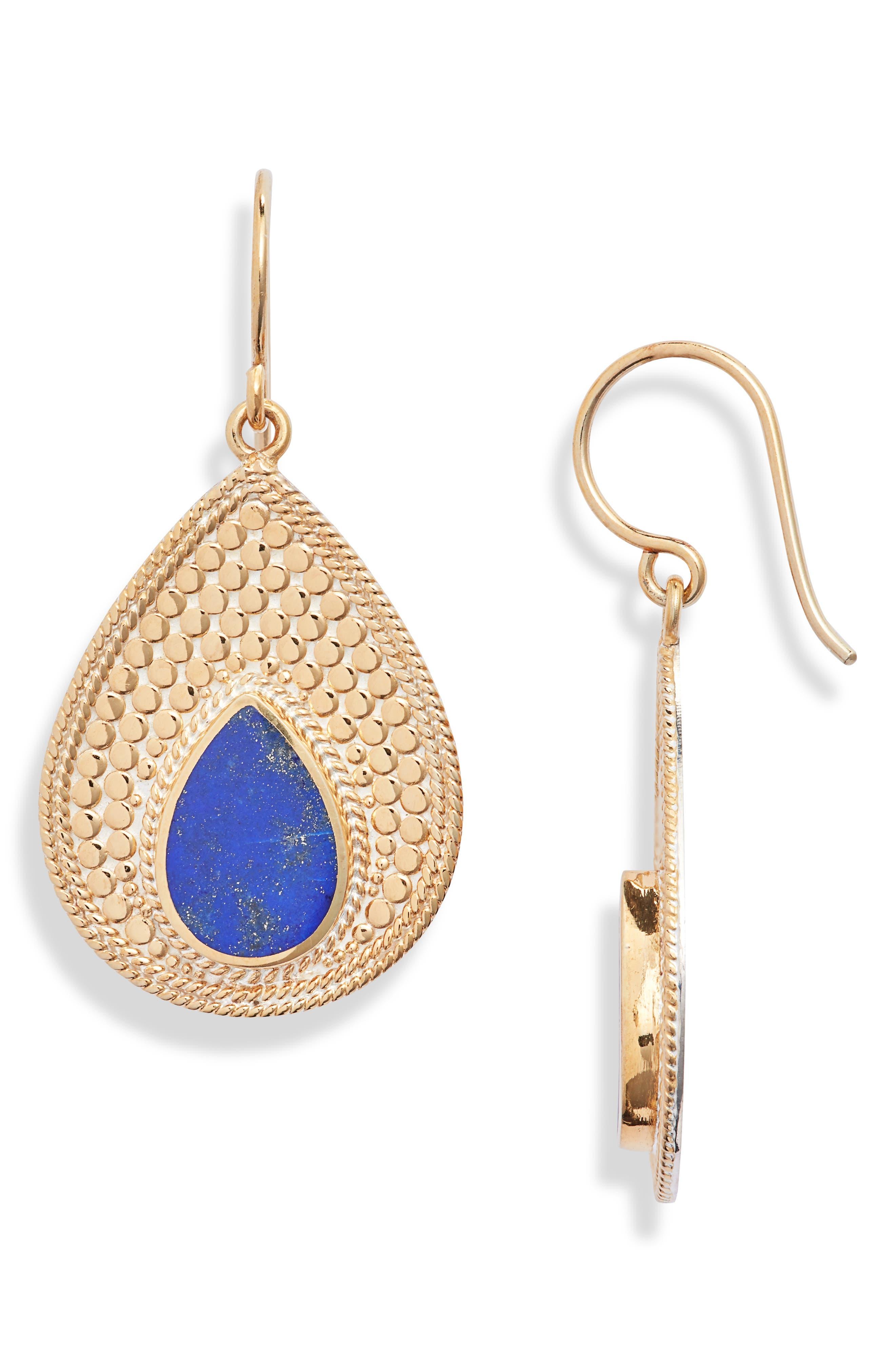 Lapis Lazuli Drop Earrings