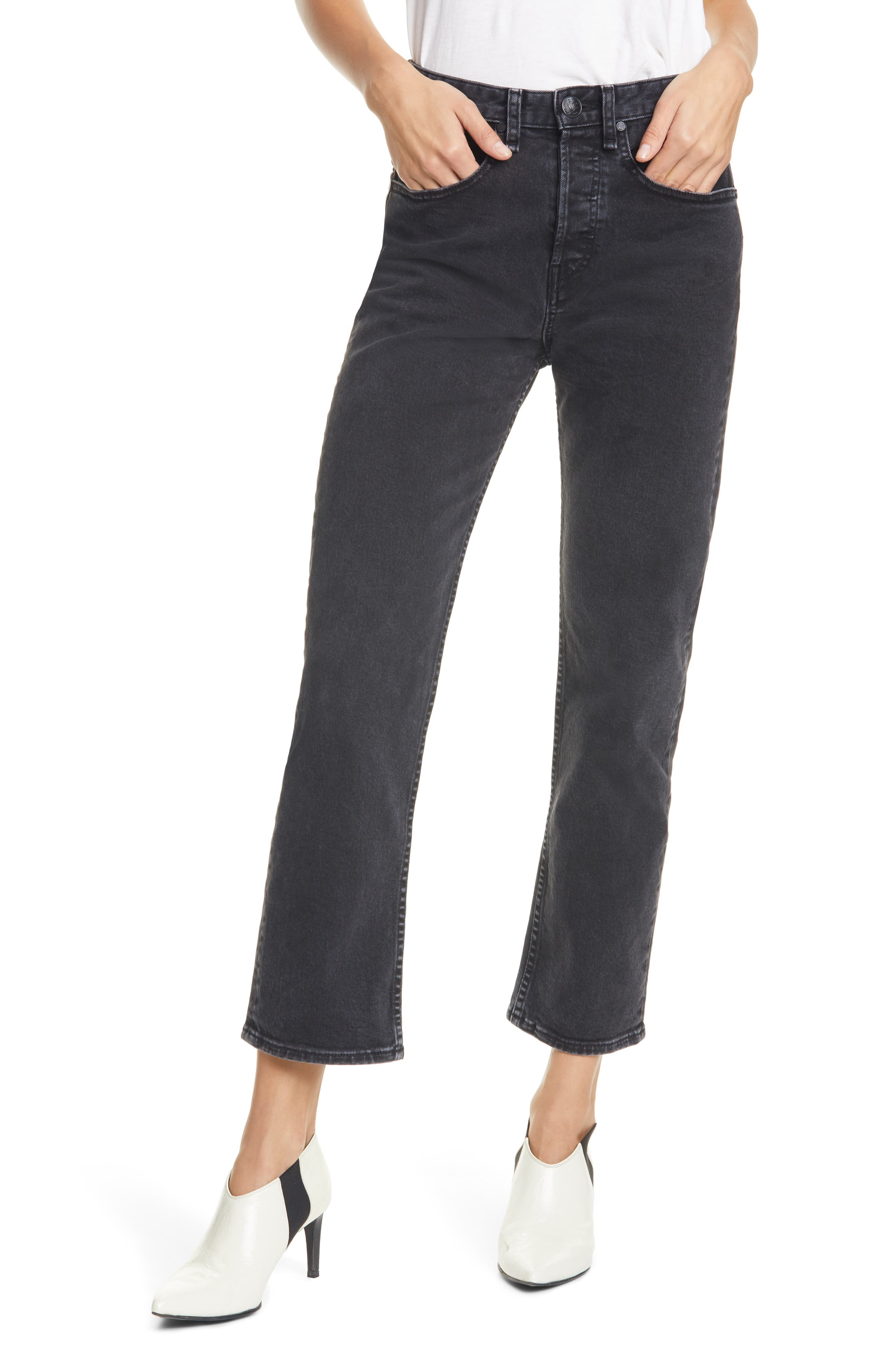 Image of Rag & Bone Maya High-Rise Ankle Straight Leg Jeans
