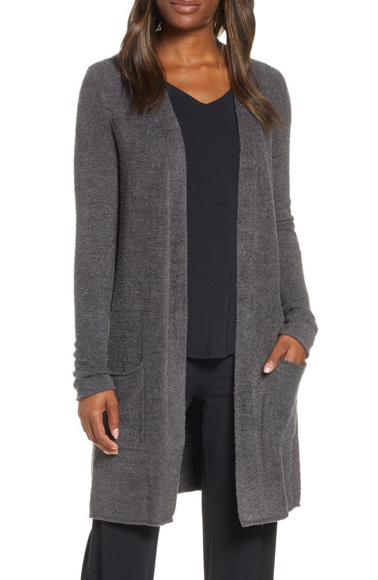 BAREFOOT DREAMS<SUP>®</SUP> CozyChic Lite<sup>®</sup> Long Cardigan, Main, color, CARBON
