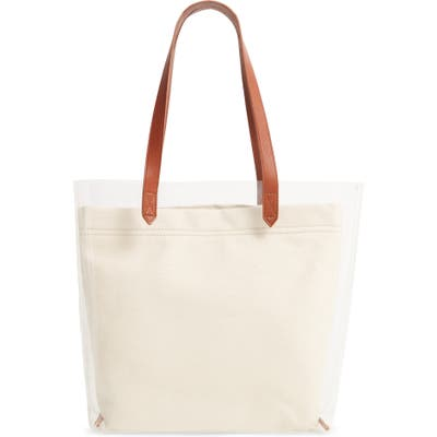 Madewell The Medium Transport Tote: Crystalline Edition - White