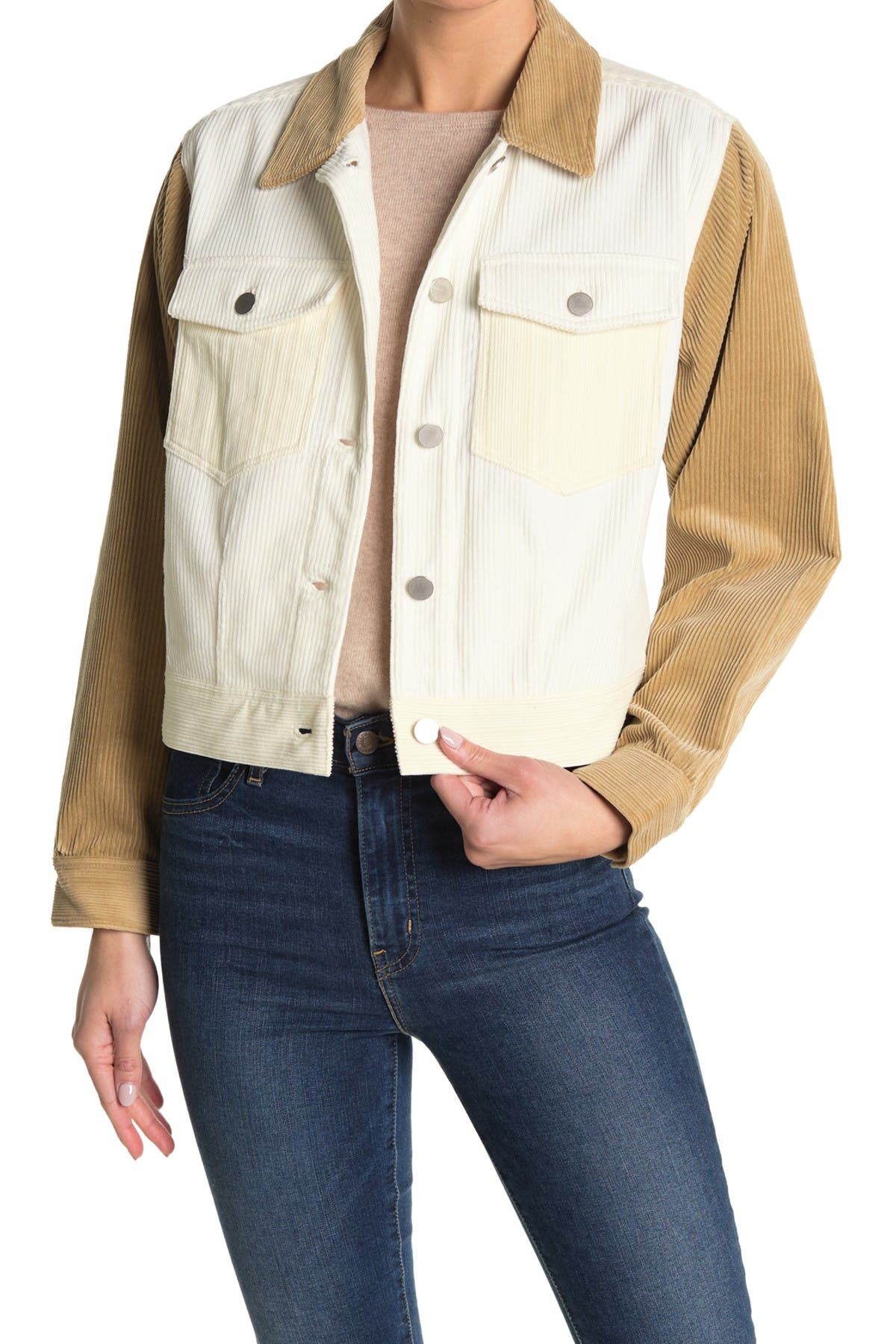 Image of BALDWIN Sayor Colorblocked Denim Jacket