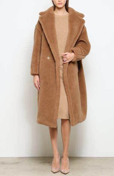 Teddy Bear Icon Faux Fur Coat, video thumbnail