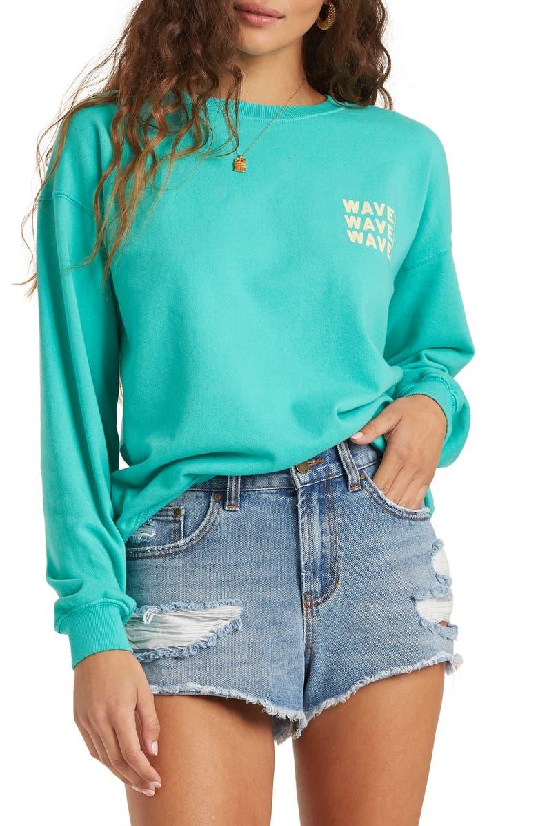 BILLABONG Wave Washed Graphic Sweatshirt, Main, color, 440