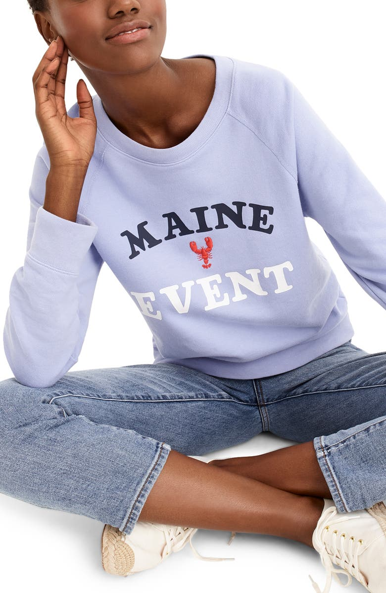 J.CREW Maine Event Sweatshirt, Main, color, HEATHER GREY
