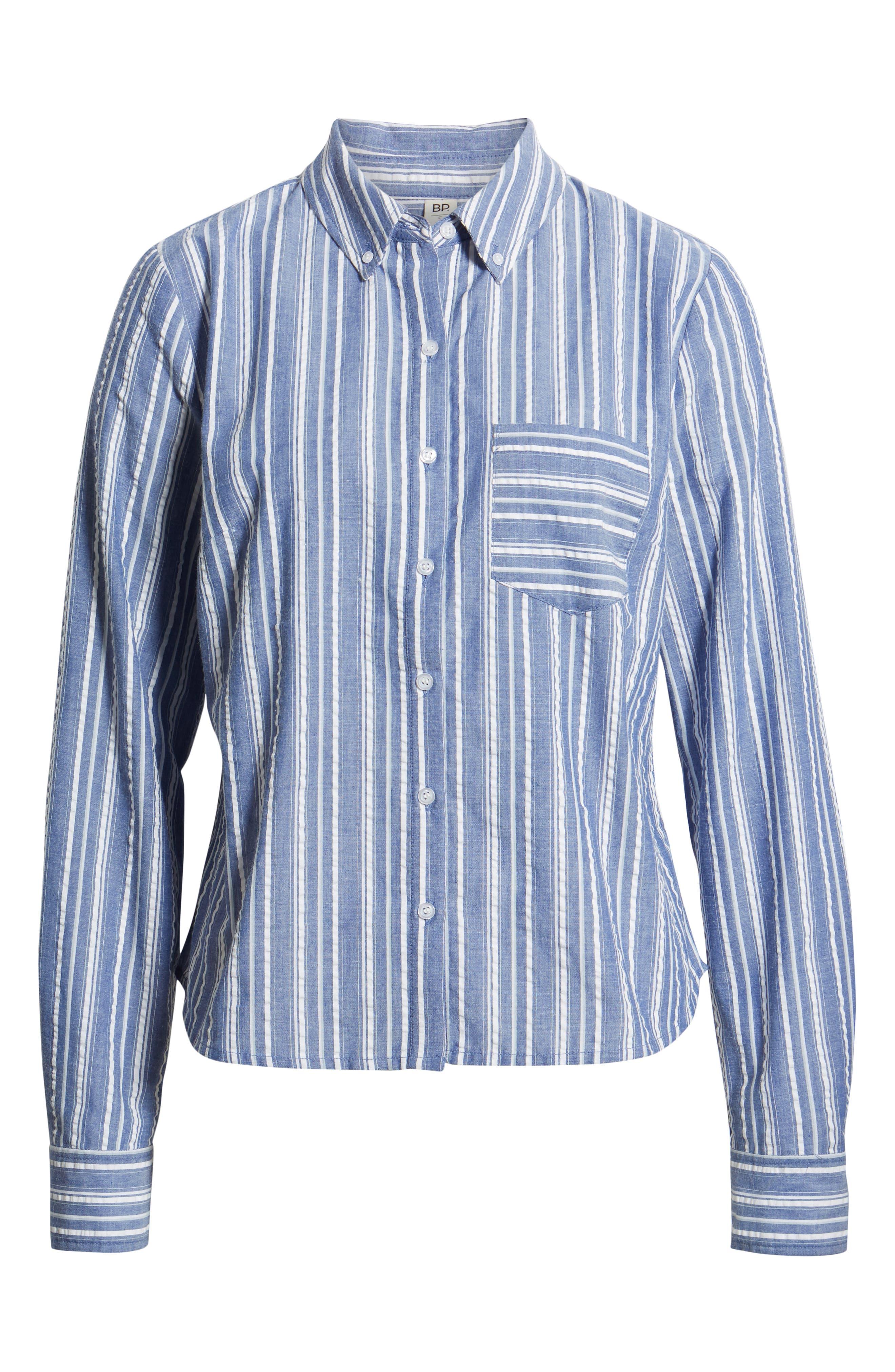 ,                             Seersucker Shirt,                             Alternate thumbnail 7, color,                             030