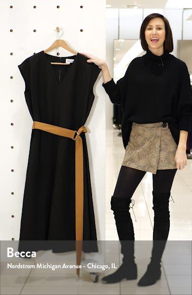 Georgia Belted Linen Blend Midi Dress, sales video thumbnail