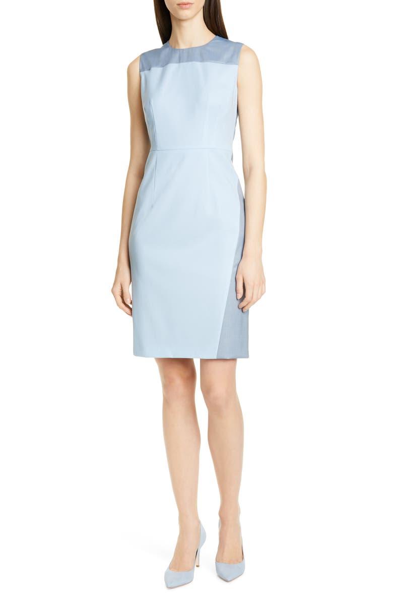 BOSS Doreli Wool Seamed Detail Dress, Main, color, 418