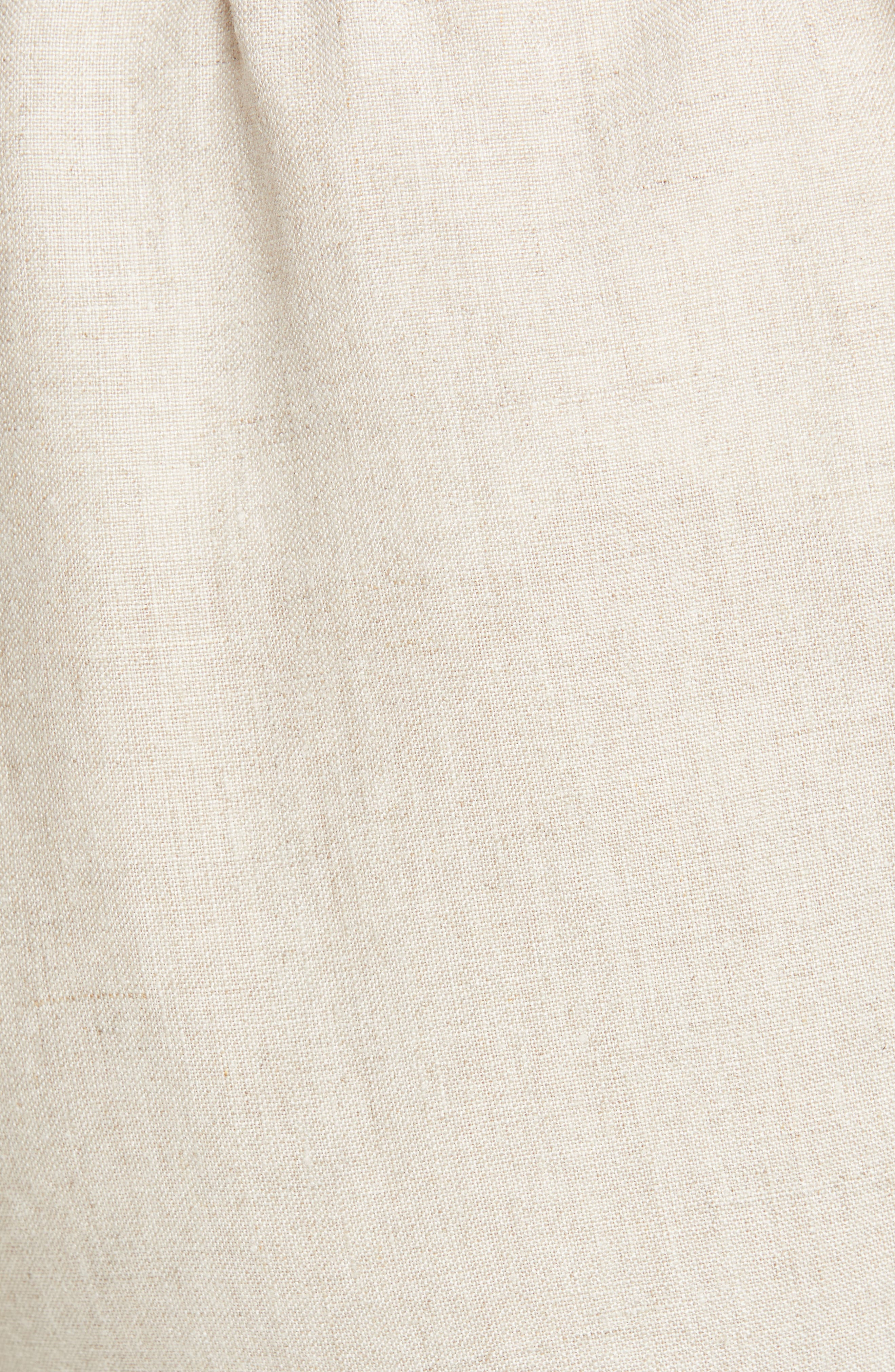 ,                             Tapered Linen Ankle Pants,                             Alternate thumbnail 6, color,                             UNDYED NATURAL