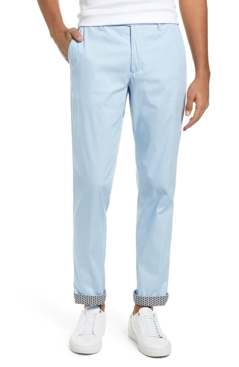 TED BAKER LONDON Icecub Slim Fit Classic Golf Dress Pants, Main, color, PL-BLUE