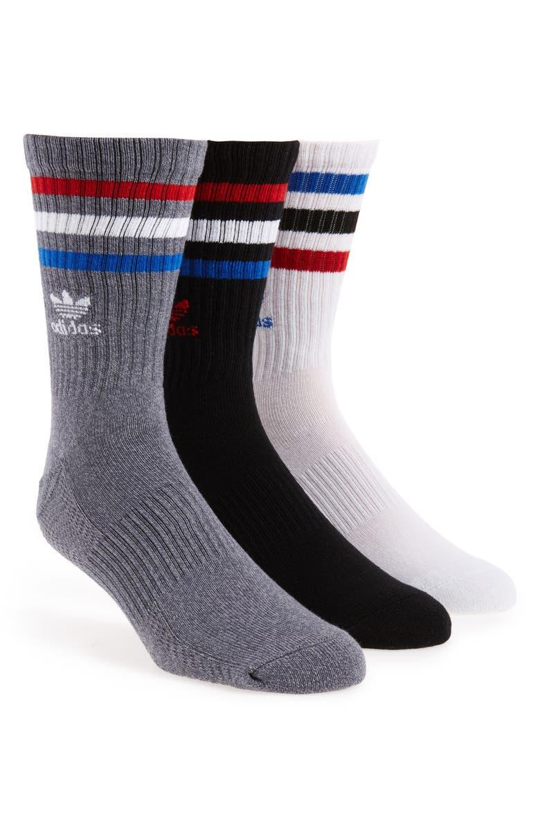 ADIDAS ORIGINALS 3-Pack Original Roller Crew Socks, Main, color, 101