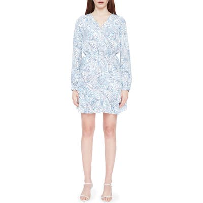 Parker Harbin Long Sleeve Silk Dress, Blue/green