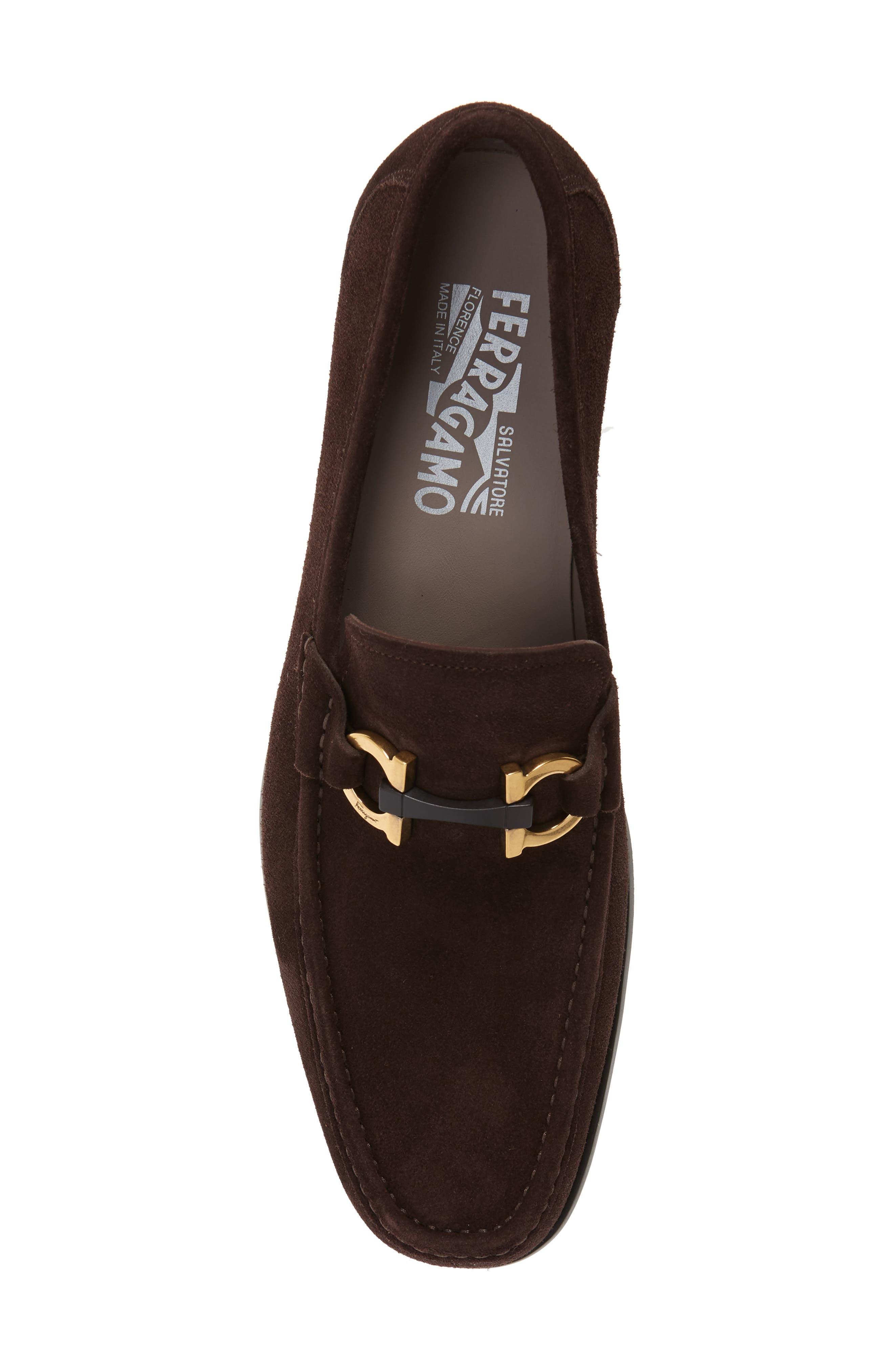 ,                             Grandioso Bit Loafer,                             Alternate thumbnail 5, color,                             BROWN SUEDE