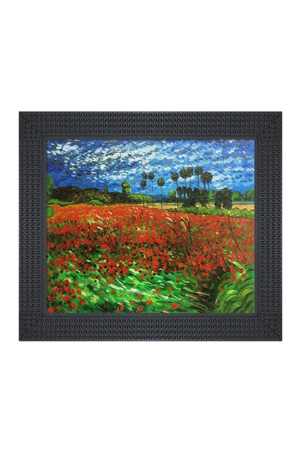 """Image of Overstock Art Field of Poppies with Java Bean Frame, 26.5"""" x 30.5"""""""