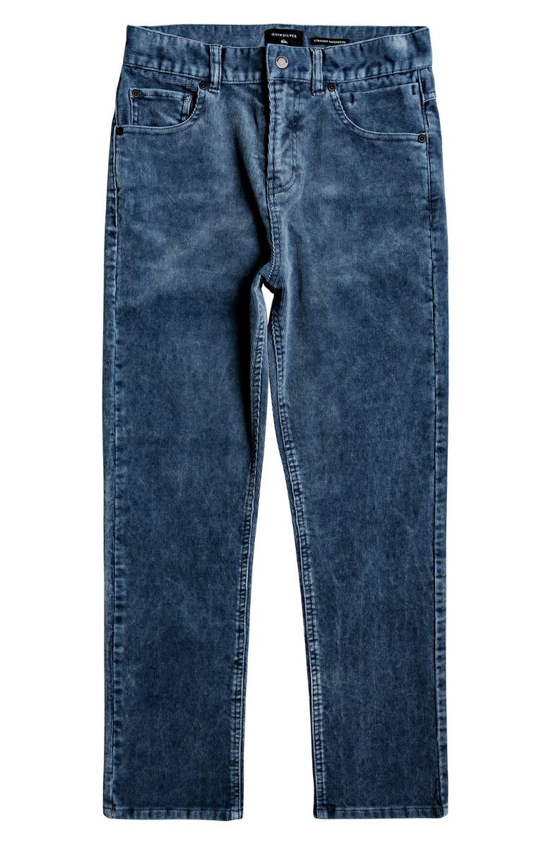 QUIKSILVER Kracker Tapered Corduroy Pants, Main, color, SKY CAPTAIN
