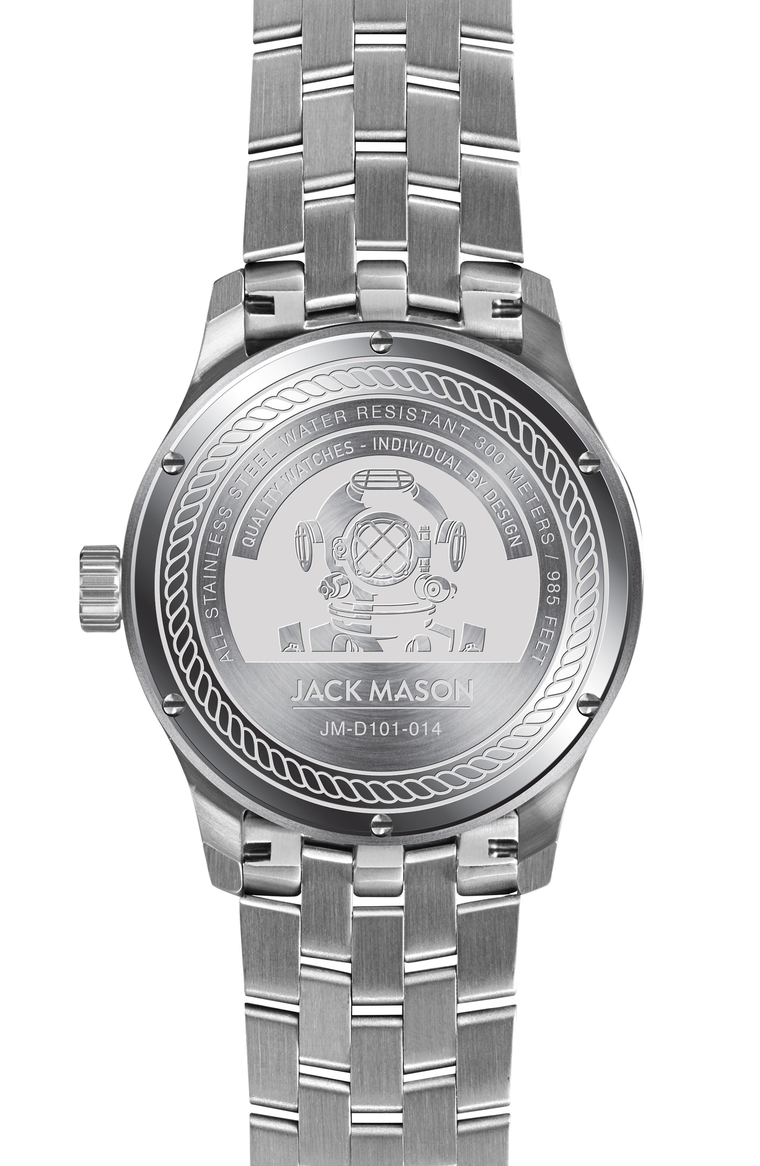 ,                             Diving Bracelet Watch, 42mm,                             Alternate thumbnail 2, color,                             BLACK
