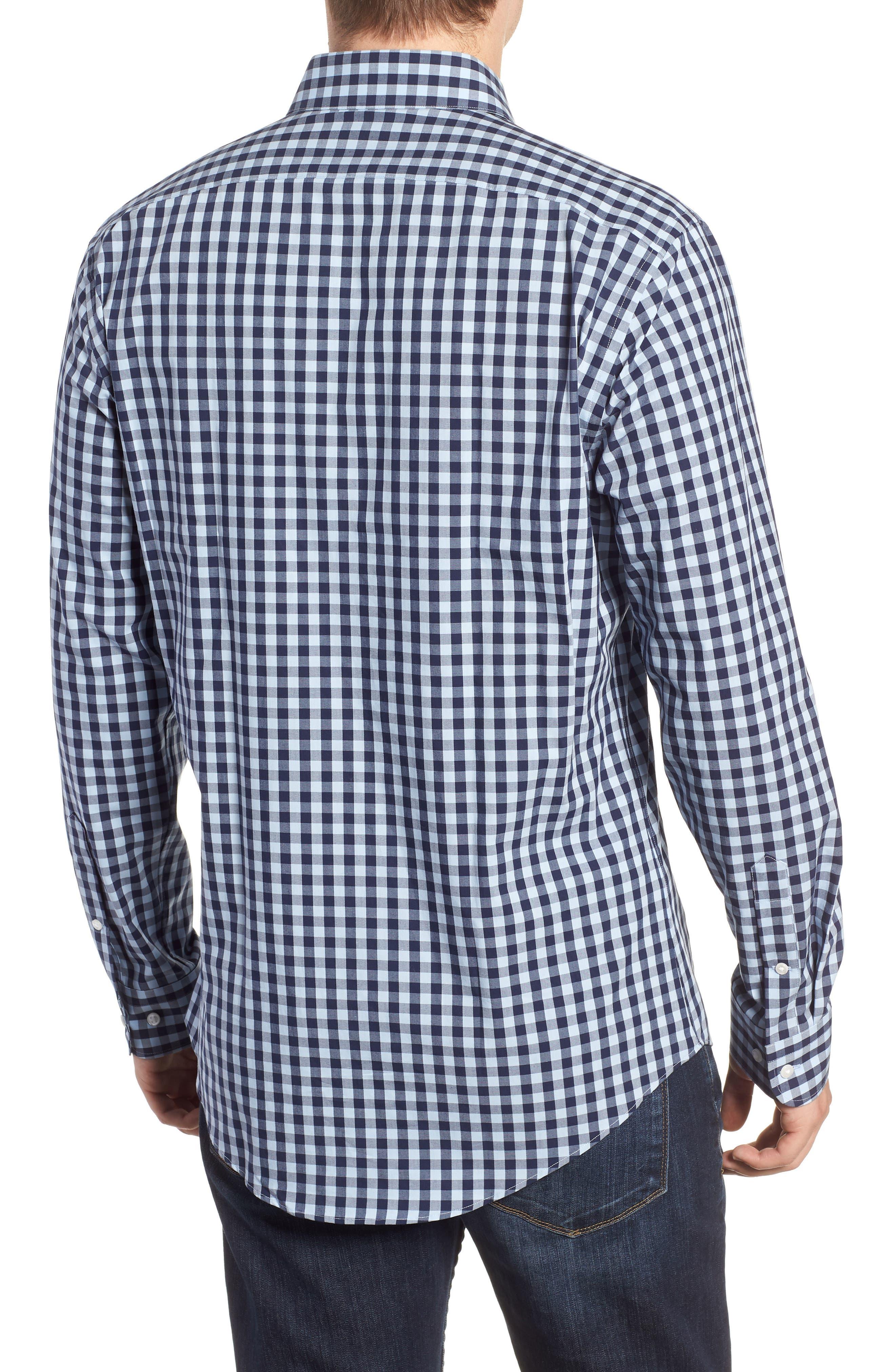,                             Tech-Smart Trim Fit Stretch Check Dress Shirt,                             Alternate thumbnail 23, color,                             415