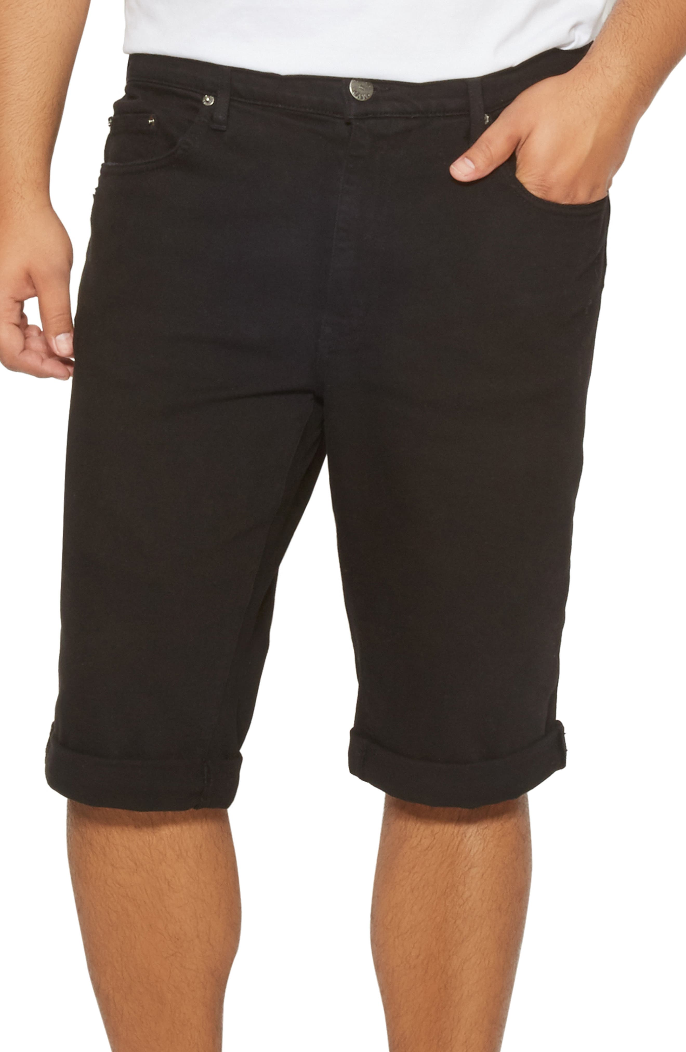 Men's Distressed Slim Fit Denim Shorts