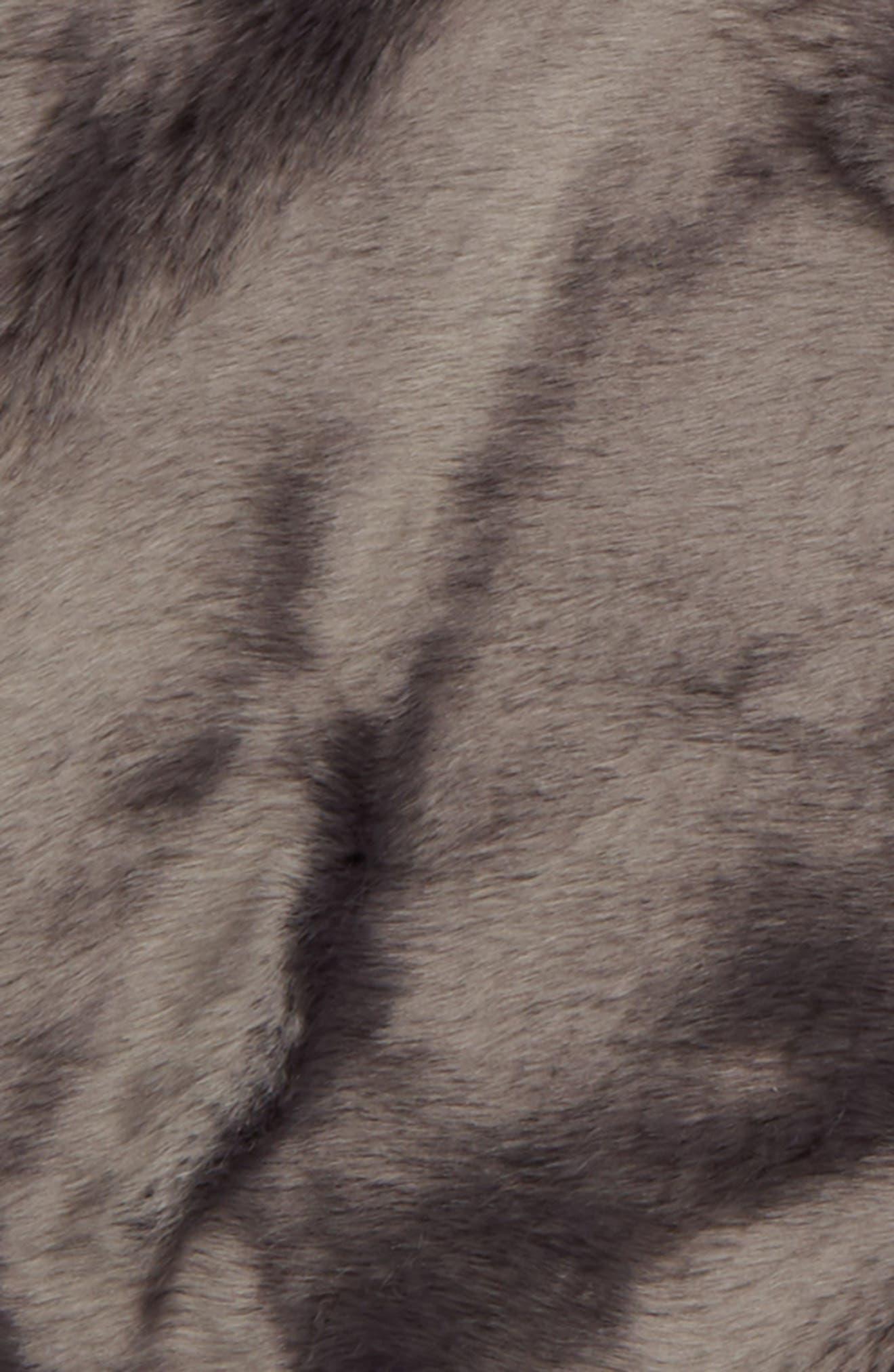 ,                             Cuddle Up Faux Fur Round Rug,                             Alternate thumbnail 2, color,                             GREY ASPHALT