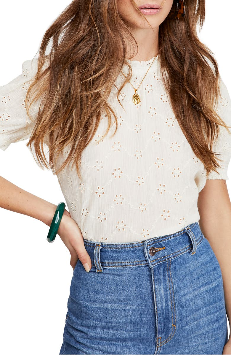 FREE PEOPLE Letters to Juliet Top, Main, color, IVORY