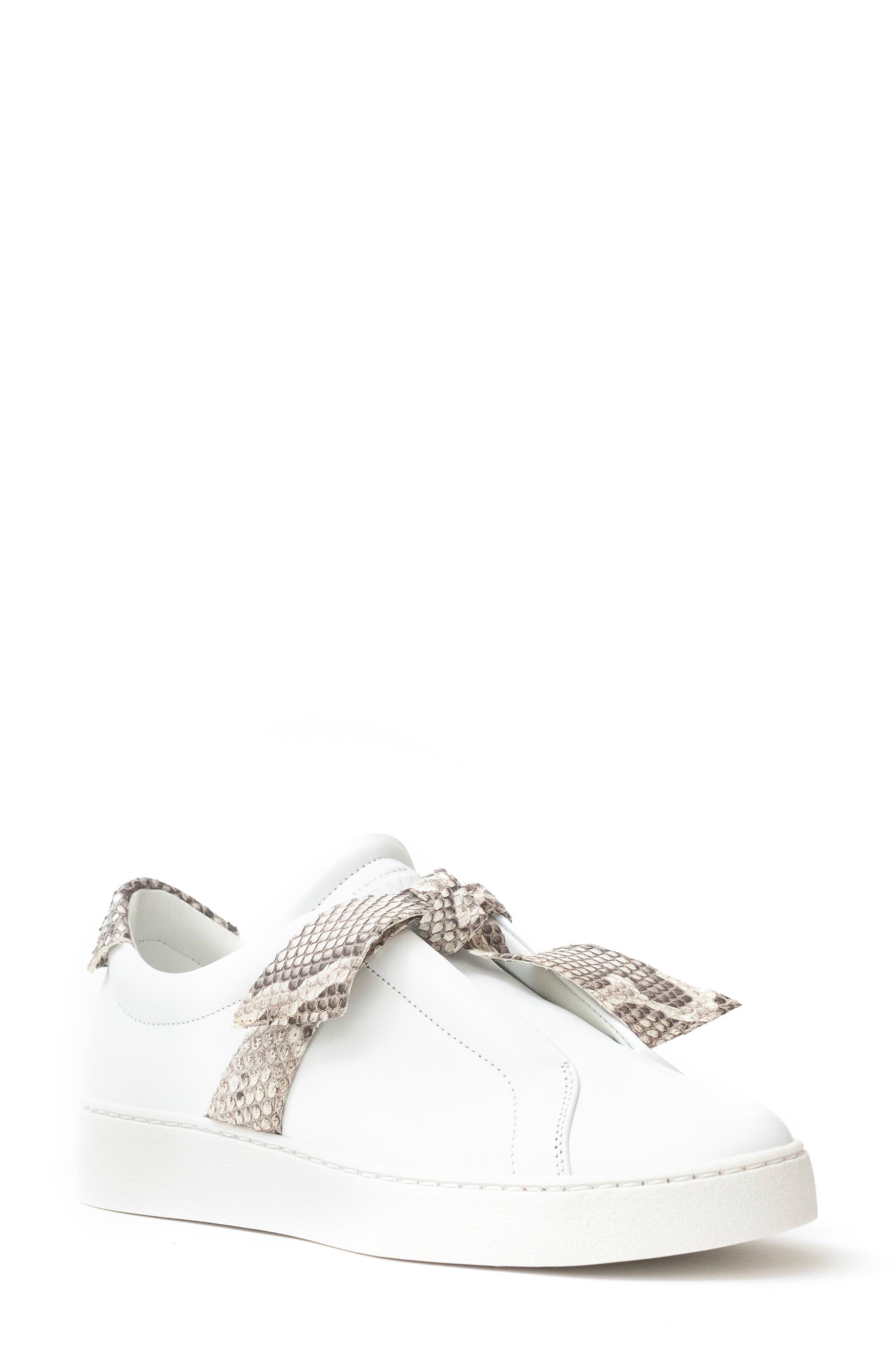 Alexandre Birman Clarita Jungle Genuine Python Bow Sneaker