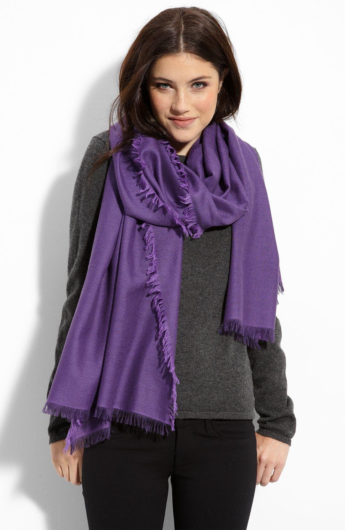 ,                             'Eyelash' Colorblock Cashmere Wrap,                             Main thumbnail 66, color,                             505