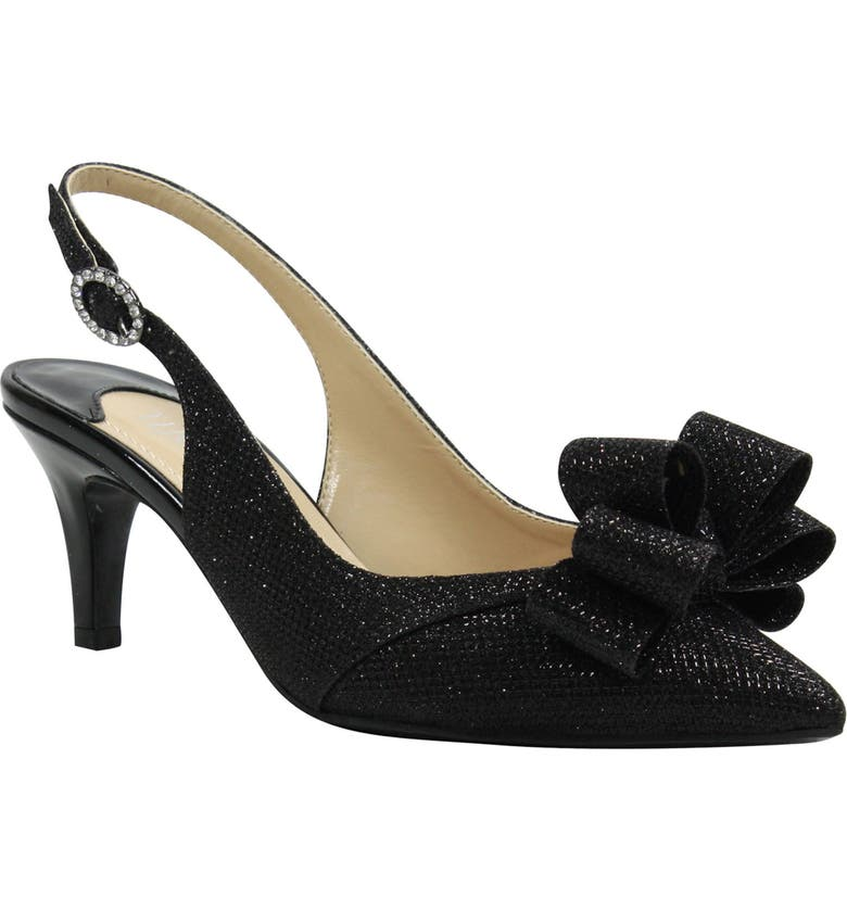 J. RENEÉ Gabino Slingback Pump, Main, color, BLACK FABRIC