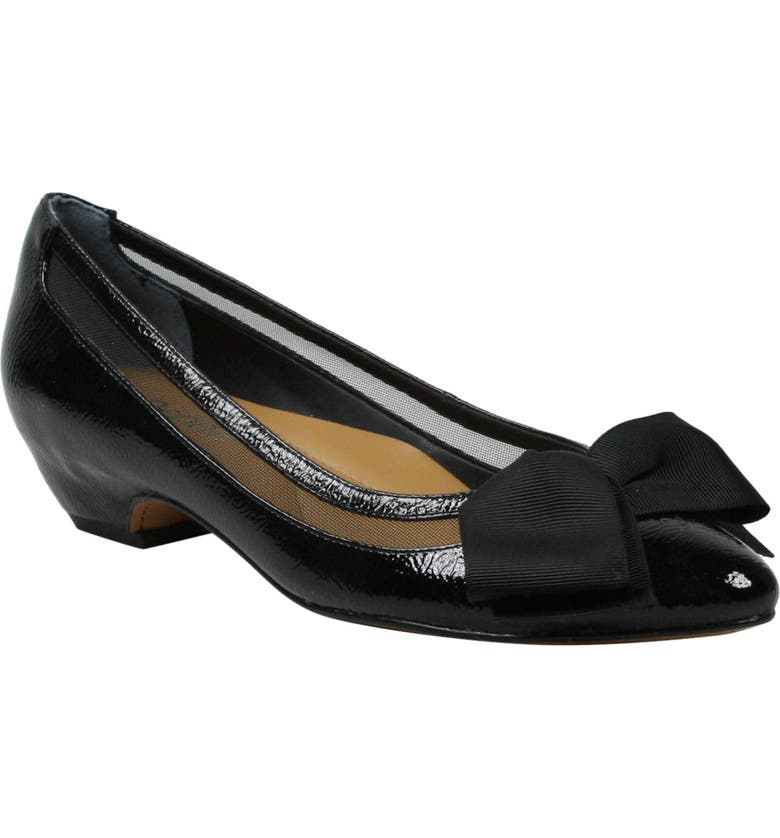 J. RENEÉ Taroona Pump, Main, color, BLACK FAUX PATENT LEATHER