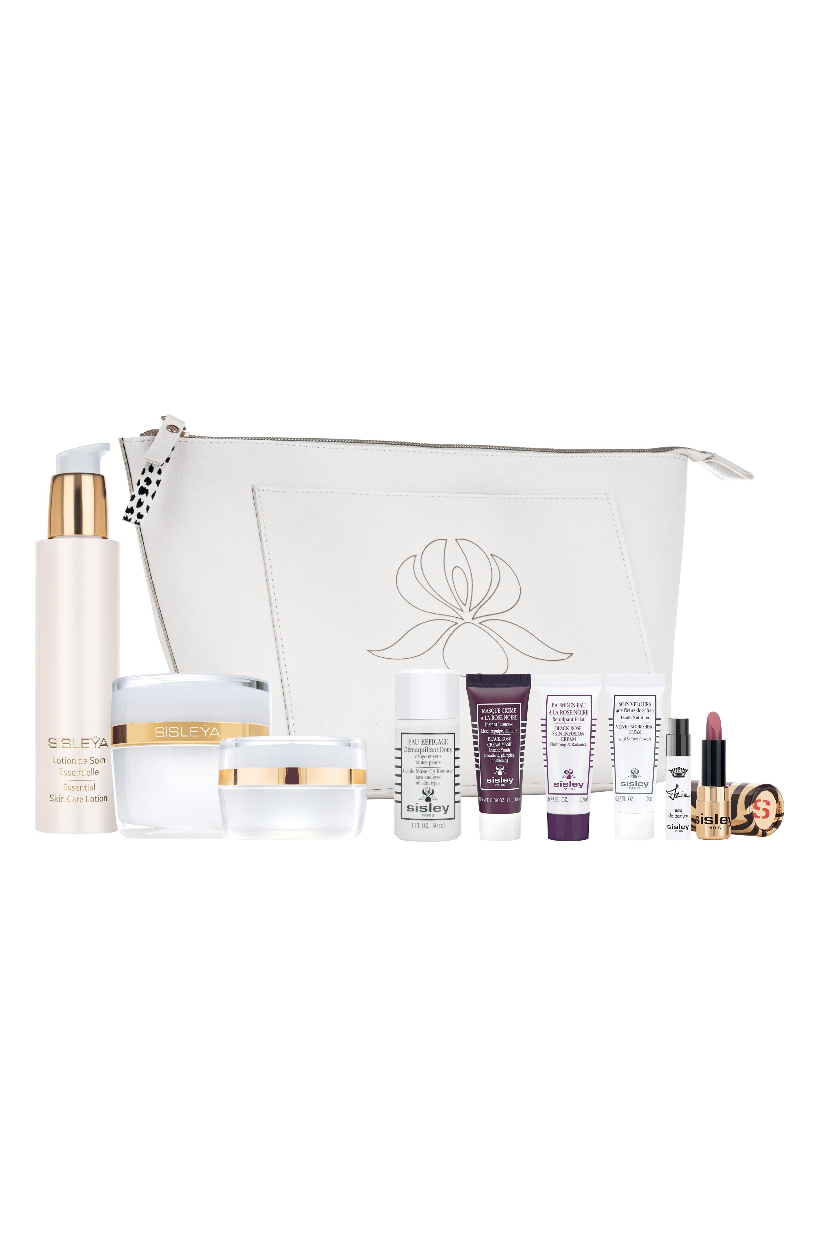 What it is: A deluxe set featuring full and travel sizes of Sisley Paris favorites for hydrated, cleansed and fragranced skin. Set includes:- Full-size Sisleya Essential Skin Care Lotion (5 oz.): a primary source of essential skin care ingredients that\\\'s the first step of your anti-aging routine- Full-size Sisleya L\\\'Integral Anti-Age Cream (1.6 oz.): an anti-aging cream that acts on genetic, environmental and behavioral aging, targeting