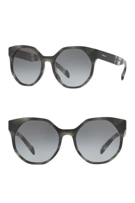 Image of Prada 55mm Round Sunglasses