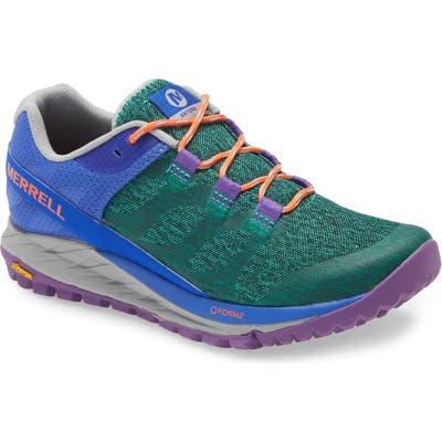 Merrell Antora Trail Running Shoe, Green