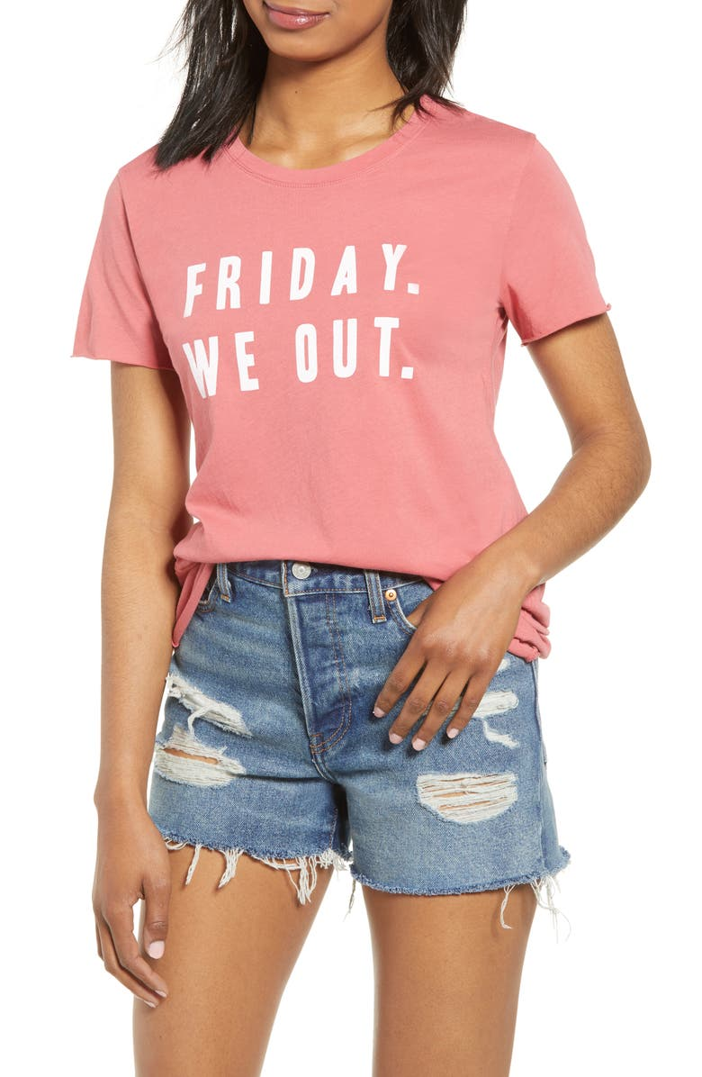 PST BY PROJECT SOCIAL T Friday We Out Graphic Tee, Main, color, 600