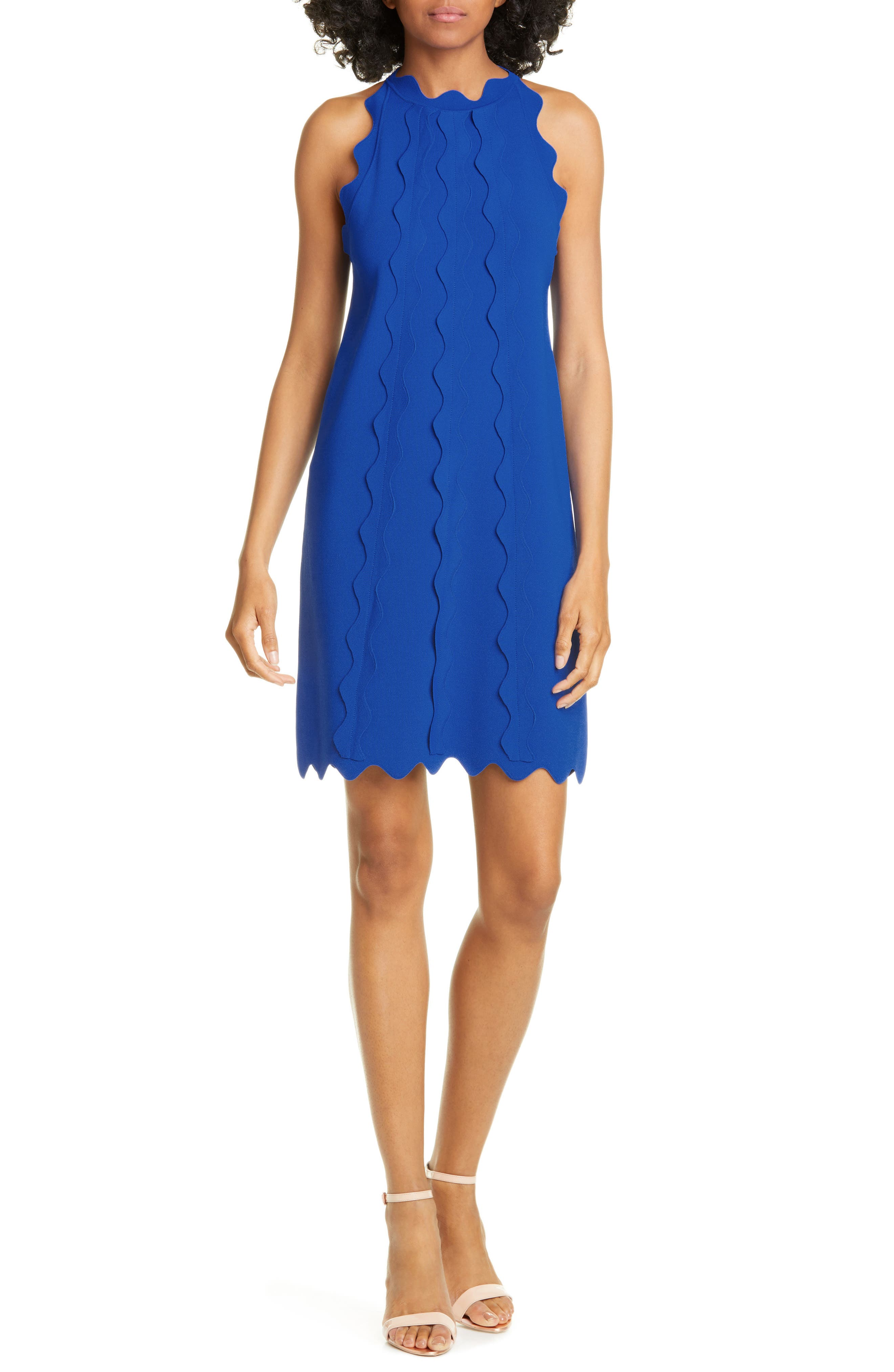 Image of Ted Baker London Rianori Scalloped Trim Shift Dress