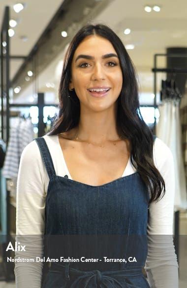 scallop neck cotton fit & flare dress, sales video thumbnail