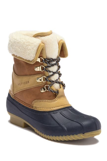 Image of Tommy Hilfiger Rusteen Faux Shearling Lined Duck Boot