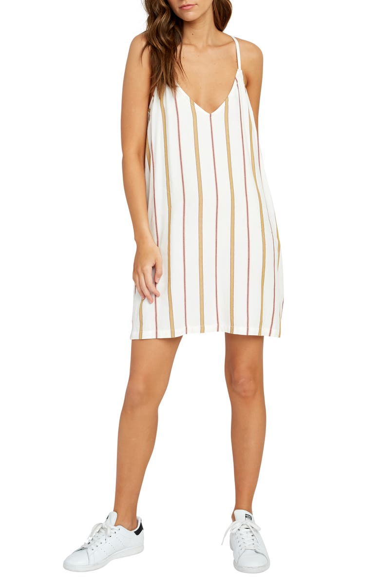 RVCA Fluke Stripe Racerback Minidress, Main, color, 900