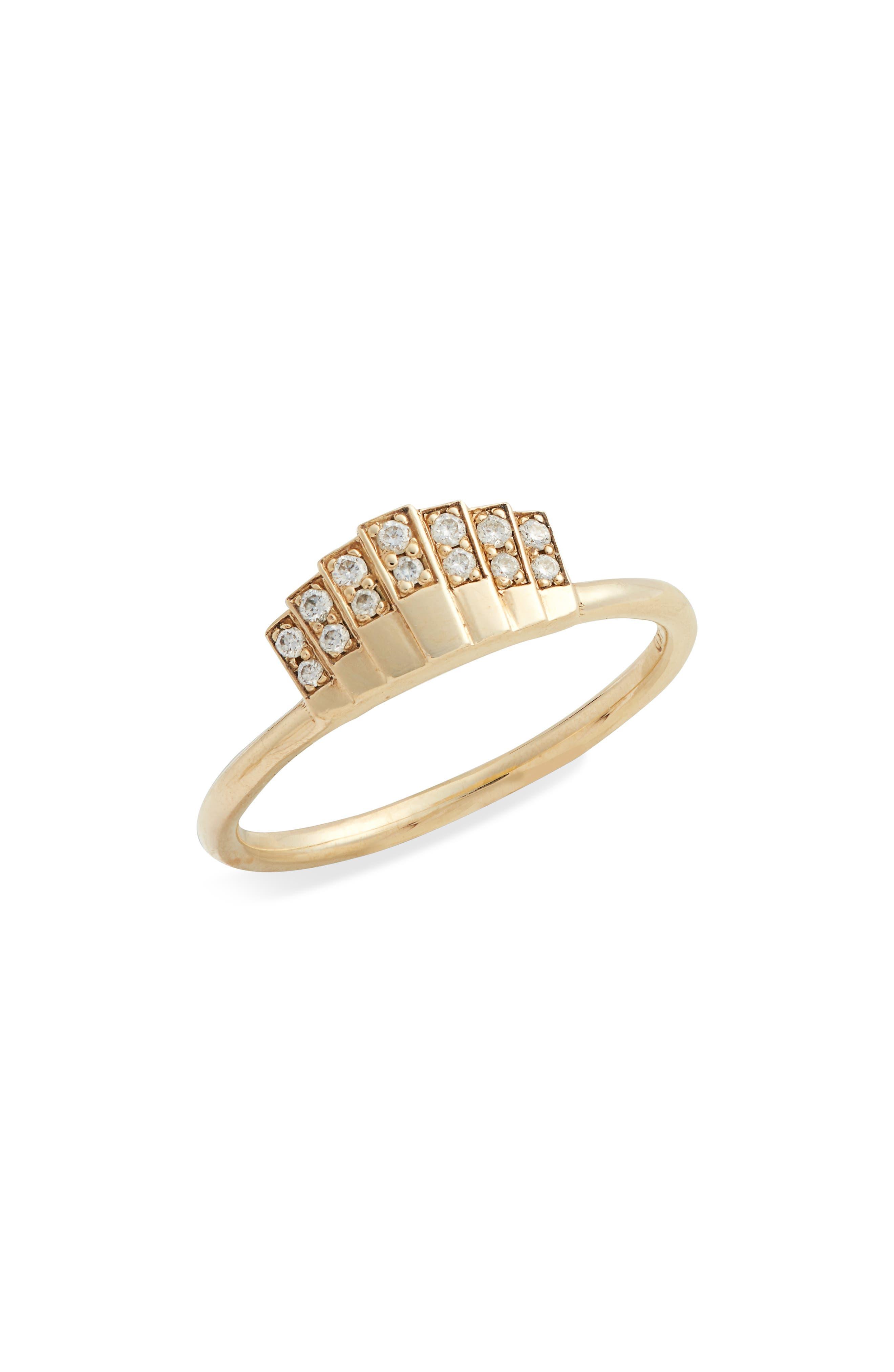 Diamond Fan Ring