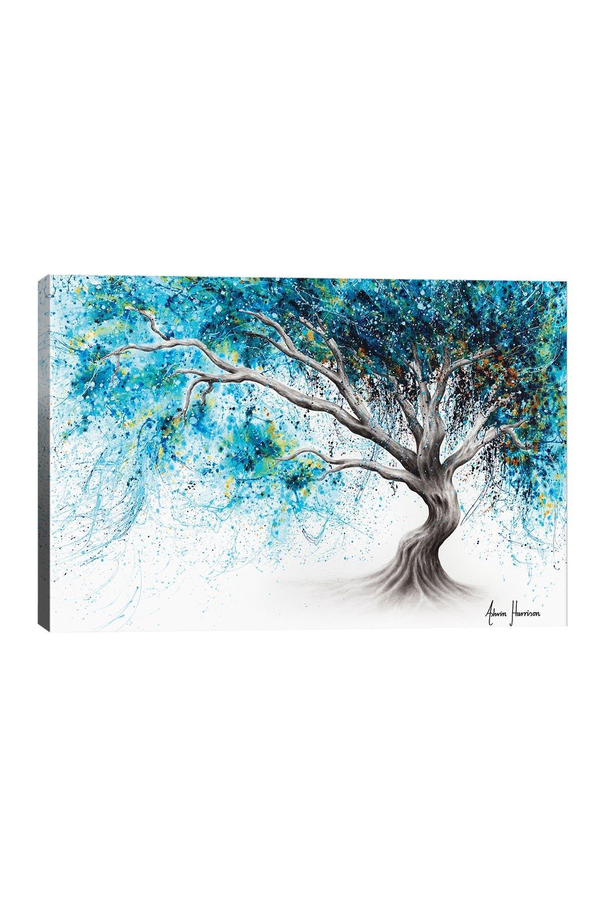 Image of iCanvas Blue Crystal Dream Tree by Ashvin Harrison Canvas Art