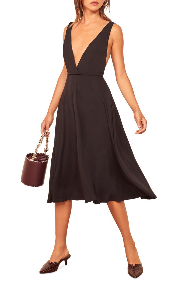 Plunge Neck Sleeveless Dress by Reformation