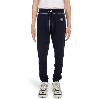 Kenzo Embroidered Crest Sweatpants, Blue