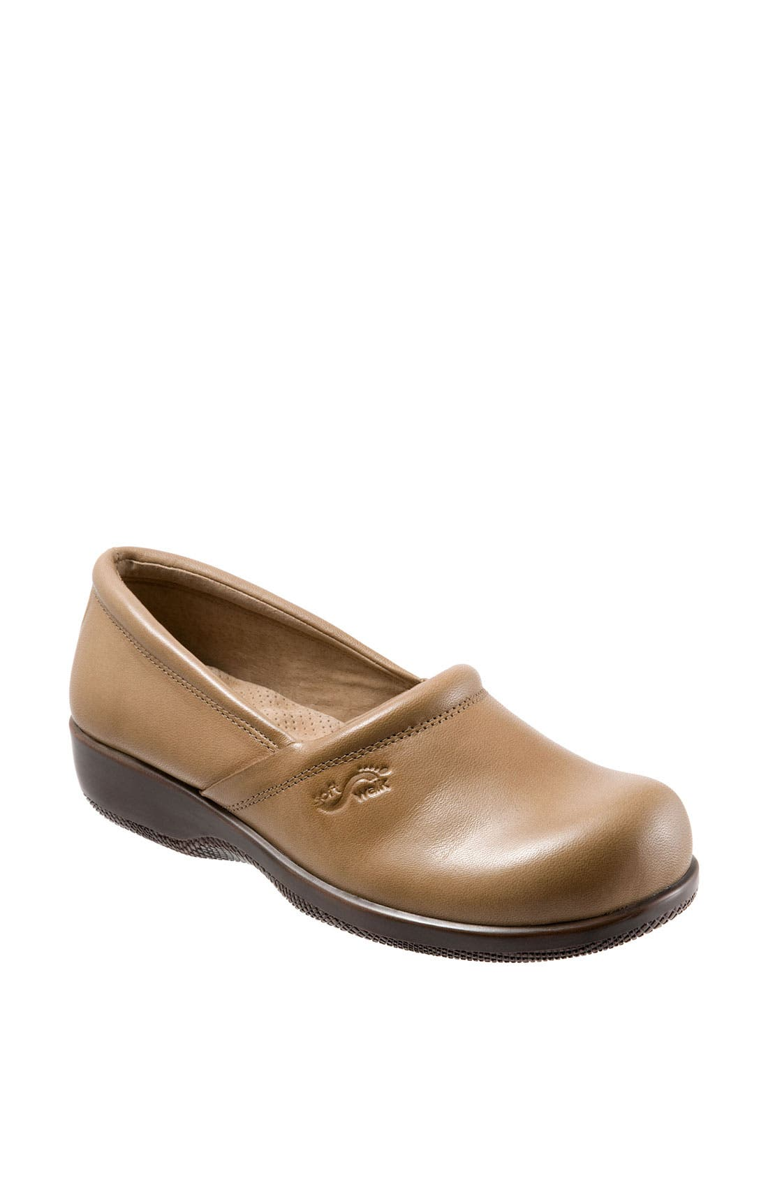 A low-heeled A-line slip-on in wonderfully soft kidskin with orthopedically designed Mogul construction for shock absorption and cushioned support. Style Name: Softwalk \\\'Adora\\\' Slip-On. Style Number: 35832 1. Available in stores.