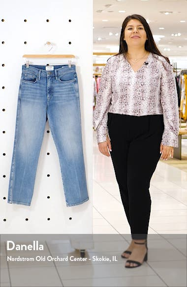 Le Sylvie High Waist Kick Boot Crop Jeans, sales video thumbnail