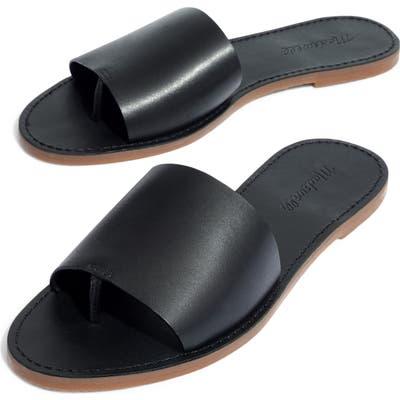 Madewell Boardwalk Post Slide Sandal, Black