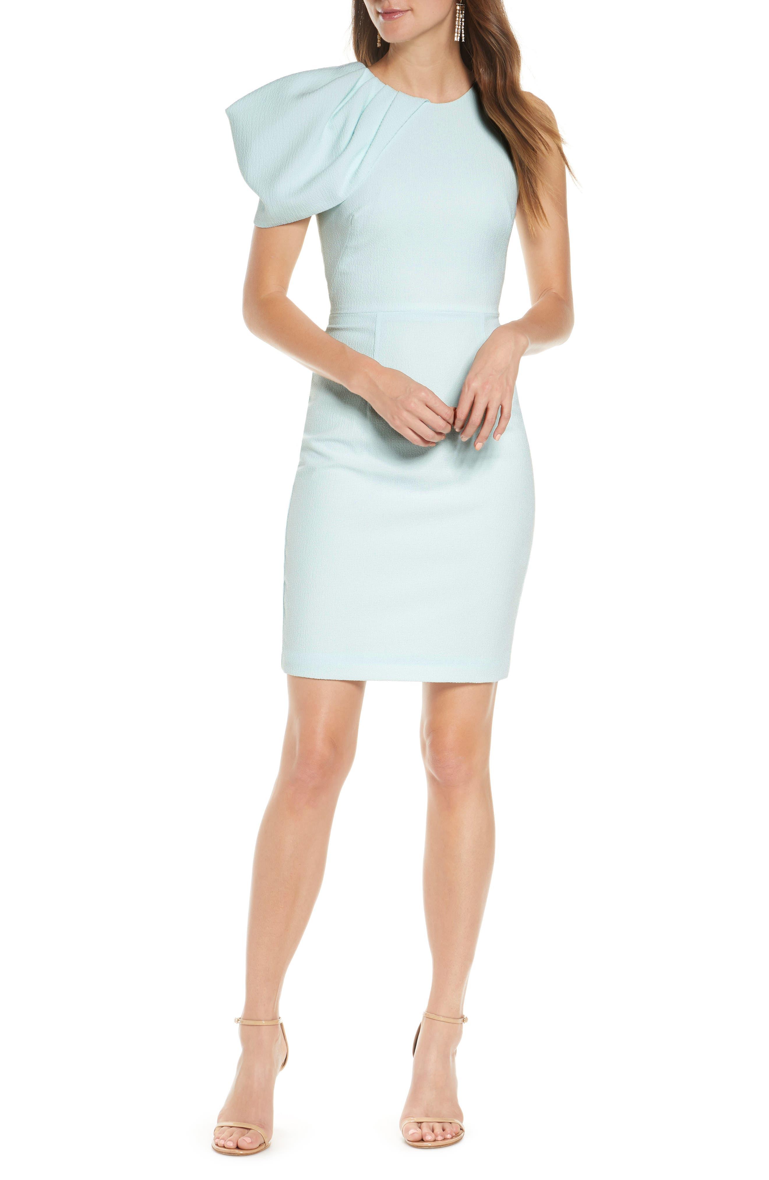 Aldo One-Shoulder Ruffle Sheath Dress