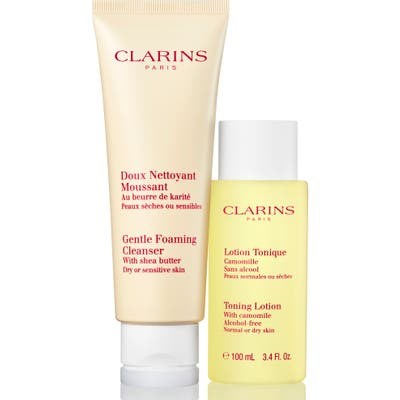 Clarins Cleanse & Refresh For Dry Or Sensitive Skin Set