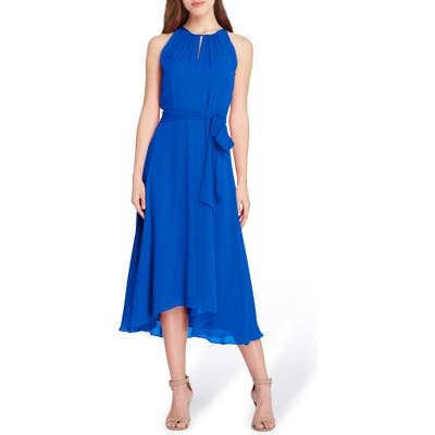 Tahari Sleeveless Chiffon Midi Dress, Blue
