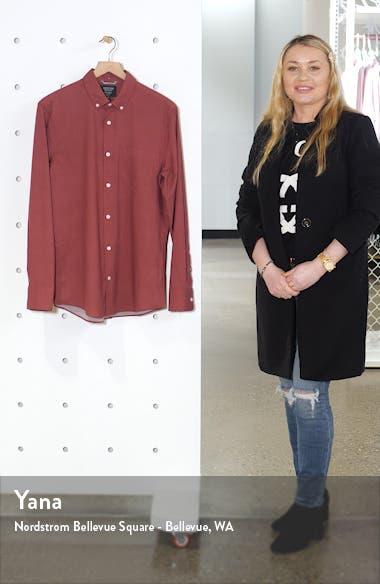 Nordstrom Mens Shop Tech-Smart Regular Fit Button-Down Shirt, sales video thumbnail