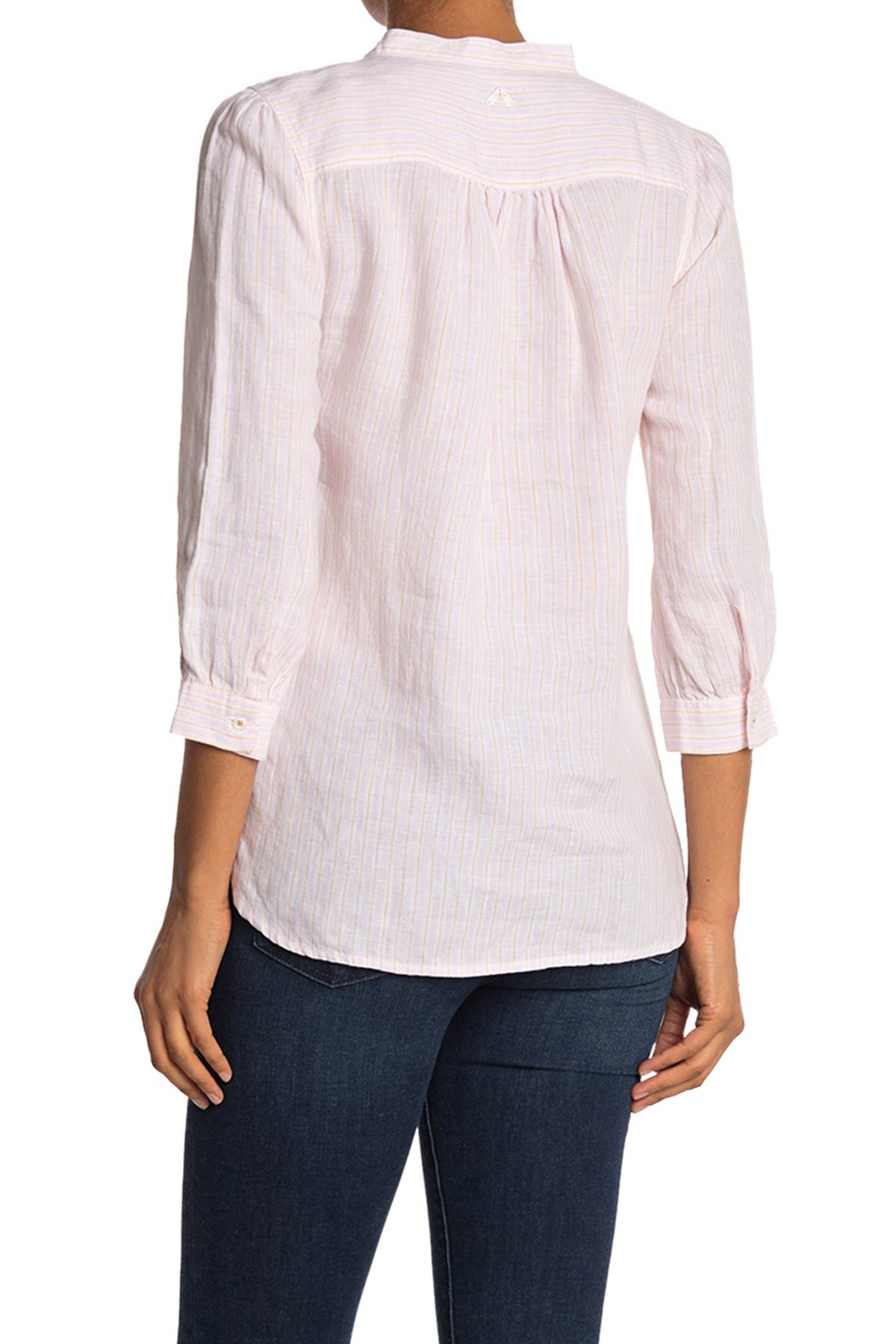 Image of Barbour Dover Striped Linen Blouse