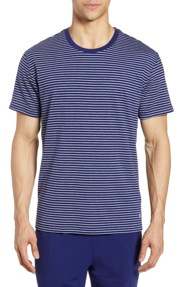POLO RALPH LAUREN Terry Cloth Crewneck T-Shirt, Main, color, FALL ROYAL/ ANDOVER HEATHER